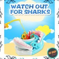 Mainan happy shark, mainan pancing ikan di mulut hiu, happy shark