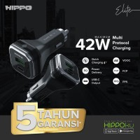 Hippo Elite SV-1 Car Charger Mobil 42W All type Fast Charging