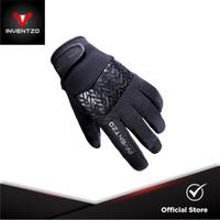 INVENTZO Avro Black Black - Sarung Tangan Motor Sensitive Touch Pria