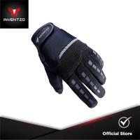 INVENTZO Defender Black Black - Sarung Tangan Motor Sensitive Touch Ti