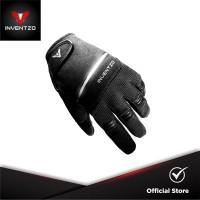 INVENTZO Fortunio Black Black - Sarung Tangan Motor Sensitive Touch