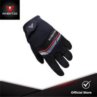 INVENTZO Avaro - Sarung Tangan Motor Sensitive Touch Pria - Black