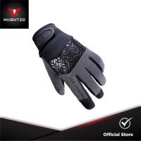 INVENTZO Avro - Sarung Tangan Motor Sensitive Touch Pria - Black Grey