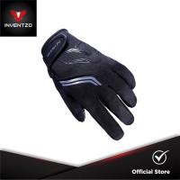 INVENTZO Fargo Black Black - Sarung Tangan Motor Sensitive Touch Tip