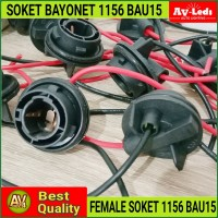 SOKET FITTING FEMALE BAYONET BAU15S 1156 PY21W