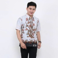 Hem Batik - Kemeja Lengan Pendek - Bambu Putih
