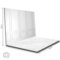 Alas Foto Lipat Dinding Putih & Marmer/ Background Foto Produk (BL-07)