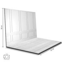 Alas Foto Lipat Dinding Putih & Kayu Putih / Background Foto (BL-01)