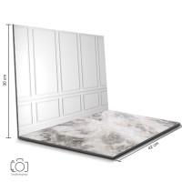 Alas Foto Lipat Dinding Putih & Marmer/ Background Foto Olshop (BL-17)