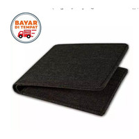 Dompet pria kanvas hitam coklat tua model lipat canvas ready stok plus