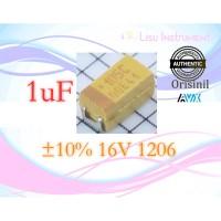 Original 1uF ±10% 16V 1206 3216 Tantalum Capacitors AVX