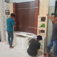 Persiapan Lebaran Interior Backdrop Meja TV Nazala Lampung