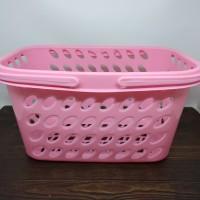 Keranjang mandi perabot pink serbaguna