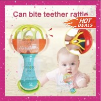 Teether Rattle Stick Single Bola / Kerincingan Mainan Gigitan Bayi