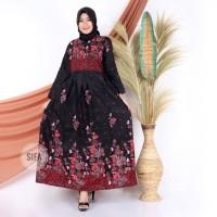 Gamis Batik Zahra Merah / Dress Batik