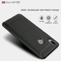 OPPO A83 SLIM FIT CARBON RUGGED JELLY SOFTCASE SOFT CASE SILIKON