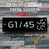 Papan Nomor Rumah Modern Eksklusif - Acrilic / Persegi