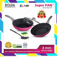 BOLDe super pan granite coating set 5pc Blackpink