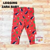 Celana Legging Zara Anak Bayi Perempuan/Cewek Baby Girl Merah Penguin