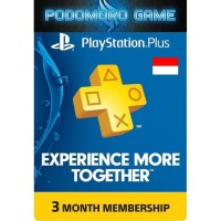 PS Plus 3 Bulan   PlayStation Plus (ID) 3 Month Membership Reg 3 Asia