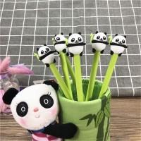 Grocely PP32 pulpen gel motif karakter panda hijau lucu imut / bolpen