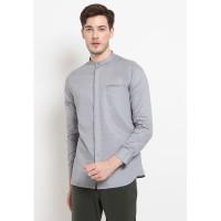 Jobb Daamir Baju Koko Modern Look Lengan Panjang Grey