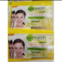 Paket 6pcs Garnier Light Complete White Speed Whitening Serum Cream7ml