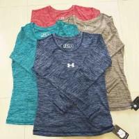 Kaos Olahraga Wanita Lengan Panjang Bahan Spandex KatunATS/TPJG/SY/EIB