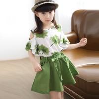 Setelan baju dan rok anak gaya korea