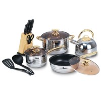Oxone Rosegold Cookware Set OX777 / Panci Set / Exclusive / Stainless