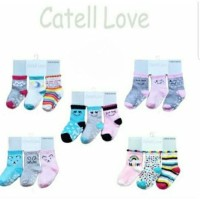 Cuci Gudang 3 Pcs Kaos Kaki Catell Carter Love 0-12 Bulan Sni Kode 98