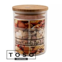 Formia Wooden Lid Jar 1,2 Ltr Toples Kaca Tutup Kayu Toples Kopi Kue