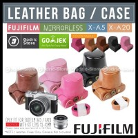 Fujifilm X-A3 X-A5 X-A10 X-A20 Leather Bag Case / Tas Kulit Kamera