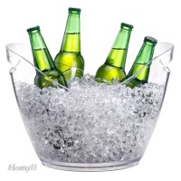 Clear Plastic Ice Bucket Wine or Champagne Bottles Ice Cooler Bar
