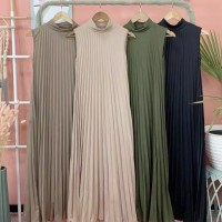 DRESS PLISKET/LONG DRES JUMBO MAXI SKIRT/GAMIS OVERALL DRESS