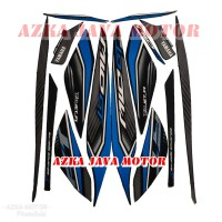striping sticker Yamaha Mio GT hitam biru 2013