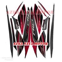 striping sticker Yamaha Mio GT merah hitam 2013