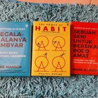 Obral 3 buku segala-galanya Ambyar Mark Manson The power of habbit cha