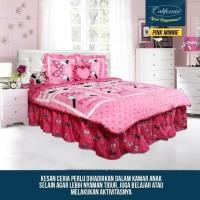 Sprei California - RUMBAI - Pink Minnie - 180x200 (King)