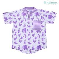 Lil' Notre/Kemeja Batik Anak Laki/Origami/Jasper Shirt/Purple