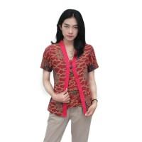 Batik Wanita Blouse Kutubaru Modern Motif Mega Mendung Size S s/d 5L