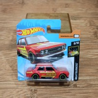 Diecast Hot Wheels Datsun Bluebird 510 Momo Racing Red Short Card SC