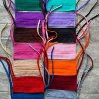 Masker Hijab Kain oxford katun polos tali panjang anti virus