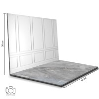Alas Foto Lipat Dinding Putih & Semen / Background Foto Produk (BL-18)