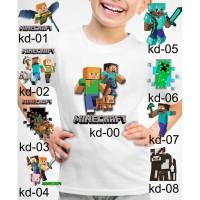 Kaos Baju tshirt anak Custom minecraft