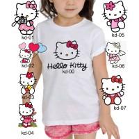 Kaos Baju tshirt anak Custom Hello Kitty