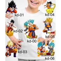 Kaos Baju tshirt anak Custom Dragon ball z