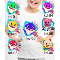 Kaos Baju tshirt anak Custom baby shark