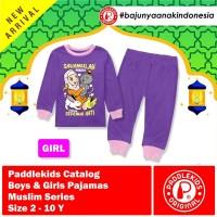 1 2 3 4 5 6 7 8 tahun baju pajamas setelan anak muslim unisex ungu