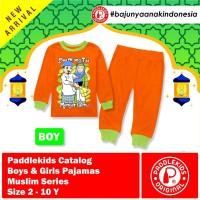 1 2 3 4 5 6 7 8 tahun baju pajamas setelan anak muslim unisex orange
